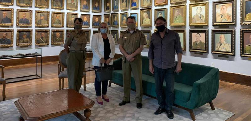 ABVO realizou uma visita ao novo Comandante-Geral da PMSC